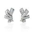 2.62ct Diamond 18k White Gold Cluster Earrings
