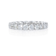 2.00ct Diamond 18k White Gold Eternity Wedding Band Ring