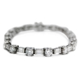 7.15ct Diamond 18k White Gold Tennis Bracelet
