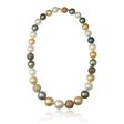 12.50ct Diamond and South Sea Pearl 18k Two Tone Gold Necklace
