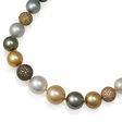 11.00ct Diamond and South Sea Pearl 18k Rose Gold Necklace
