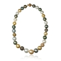 Diamond and South Sea Pearl 18k Rose Gold Necklace
