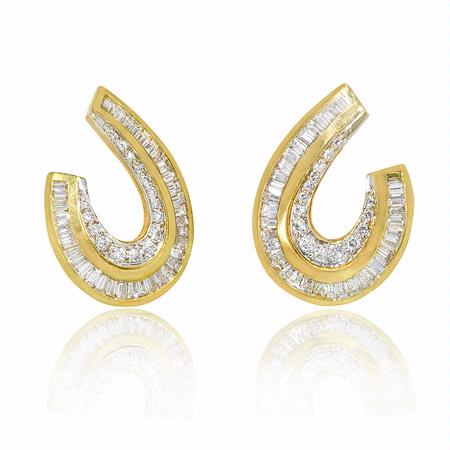 Diamond 18k Yellow Gold Earrings