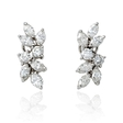 3.38ct Diamond 18k White Gold Cluster Earrings