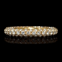 Diamond 18k Pink Gold Eternity Ring