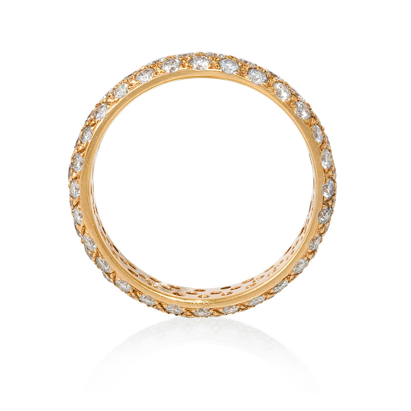 Pink Gold Diamond Bands: 1.97ct Diamond 18k Pink Gold Eternity Wedding Band Ring