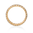 1.97ct Diamond 18k Pink Gold Eternity Wedding Band Ring