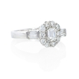 .90ct Diamond 18k White Gold Ring