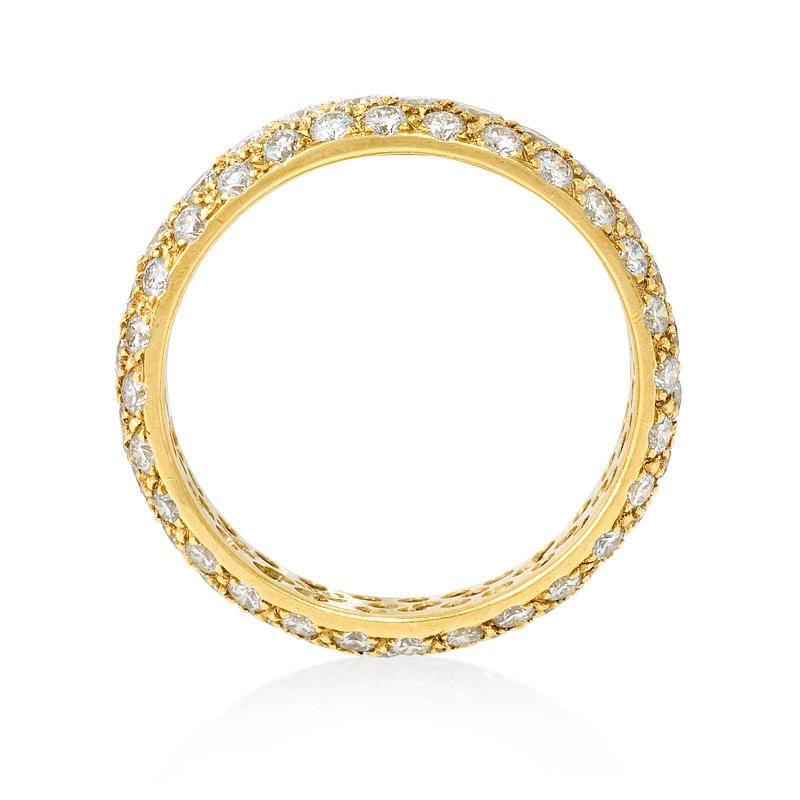 diamond 18k yellow gold eternity wedding band ring. Black Bedroom Furniture Sets. Home Design Ideas