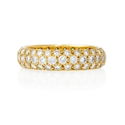 Diamond 18k Yellow Gold Eternity Wedding Band Ring