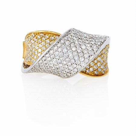 1.78ct Diamond 18k Two Tone Gold Ring