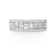 .99ct Diamond 18k White Gold Wedding Band Ring