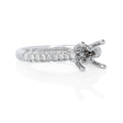 .46ct Diamond 18k White Gold Engagement Ring Setting