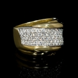 1.45ct Leo Pizzo Diamond 18k Two Tone Gold Ring