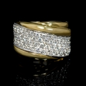 Leo Pizzo Diamond 18k Two Tone Gold Ring