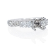 .85ct Diamond 18k White Gold Engagement Ring Setting