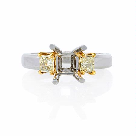 Diamond Platinum 18k Yellow Gold Engagement Ring Setting