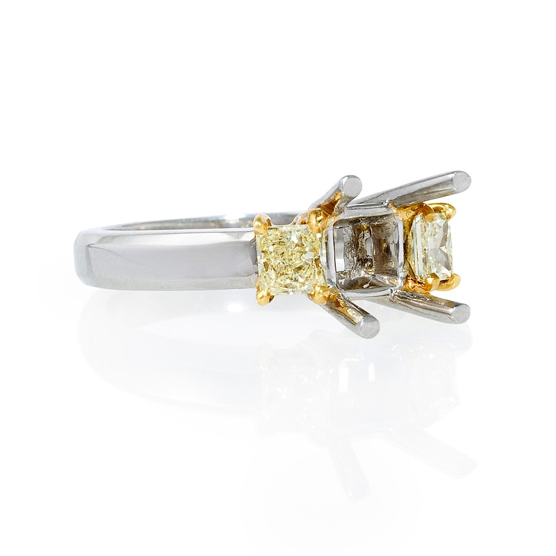 Yellow Gold Diamond Platinum: .58ct Diamond Platinum 18k Yellow Gold Engagement Ring Setting