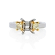 .58ct Diamond Platinum 18k Yellow Gold Engagement Ring Setting