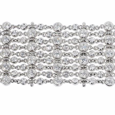 Diamond Antique 18k White Gold Bracelet