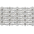 8.41ct Diamond Antique 18k White Gold Bracelet