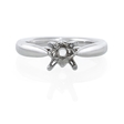 18k White Gold Engagement Ring Setting