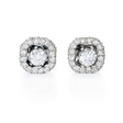 1.00ct Diamond 18k White Gold Earring Jackets
