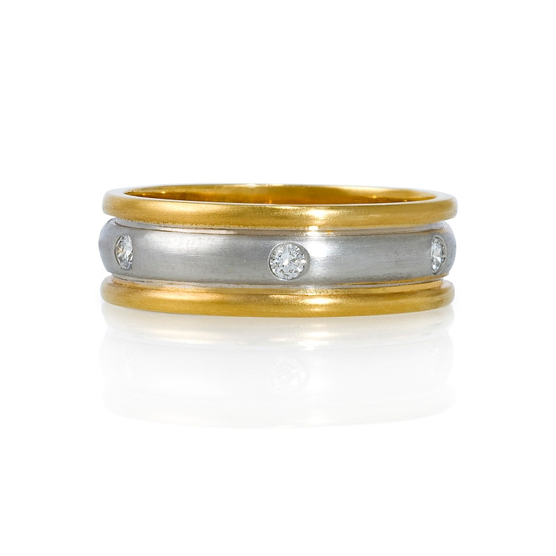 gold band bands and yellow product wedding platinum