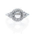 .44ct Diamond 18k White Gold Halo Engagement Ring Setting