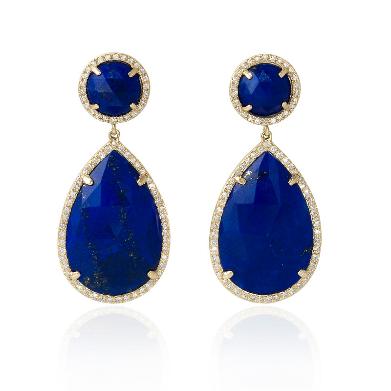 blue lapis lazuli earrings polyvore