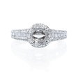 .65ct Diamond Platinum Halo Engagement Ring Setting