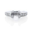 .30ct Diamond 18k White Gold Engagement Ring Tension Setting