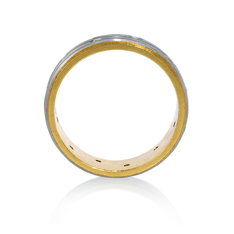 23ct platinum and 18k yellow gold ring