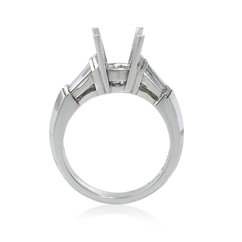 80ct Diamond Platinum Engagement Ring Setting