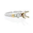 .65ct Diamond Antique Style Platinum and 18k Yellow Gold Engagement Ring Setting