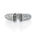 Diamond Platinum Gold Engagement Ring Tension Setting