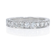 .70ct Diamond Antique Style 18k White Gold Wedding Band Ring