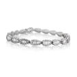 5.55ct Diamond 18k White Gold Bracelet