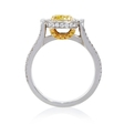 1.66ct GIA Certified Diamond Platinum and 18k Yellow Gold Engagement Ring
