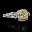 1.94ct GIA Certified Diamond 18k White Gold Engagement Ring