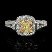 GIA Certified Diamond 18k White Gold Engagement Ring