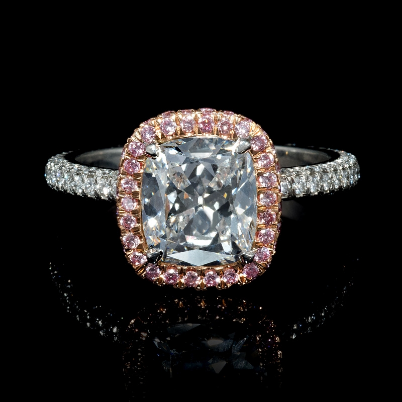 250ct GIA Certified Diamond Platinum And 18k Rose Gold Engagement Ring
