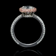 2.50ct GIA Certified Diamond Platinum and 18k Rose Gold Engagement Ring