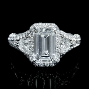 GIA Certified Diamond Platinum Engagement Ring