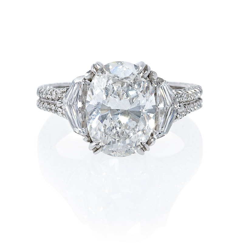 3 10ct certified antique style platinum