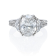 3.10ct GIA Certified Diamond Antique Style Platinum Engagement Ring