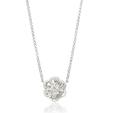 1.19ct Diamond 18k White Gold Pendant Necklace