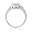 .95ct Diamond 18k White Gold Ring