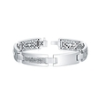 1.25ct Men's Diamond 14k White Gold Bracelet
