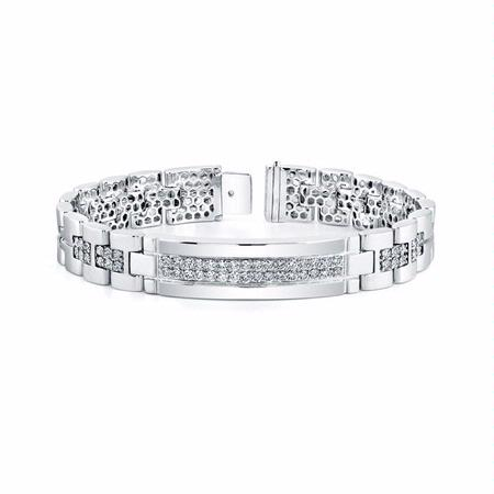 fd89a0f7827 3.37ct Men s Diamond 14k White Gold Bracelet